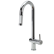Chrome Kitchen Mixer with Retractable Pull-Out Hose